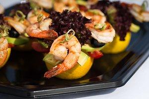 shrimp canape starter