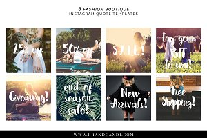 Boutique Social Media Templates