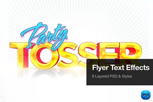Party Flyer Text Effects