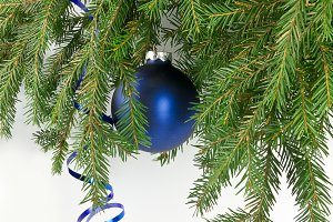 Christmas bauble on a tree