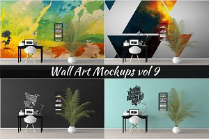 Wall Mockup - Sticker Mockup Vol 9