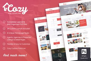 Cozy - Real Estate PSD Template