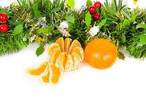 Christmas tangerine