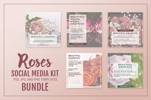 *SALE* Roses Social Media Kit Bundle