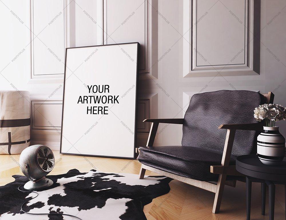 Creative Market Living Room Artwork Mockup