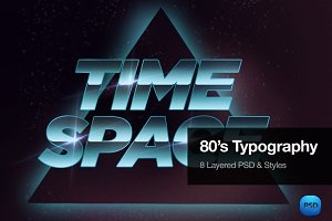 80's Typography Text Effects