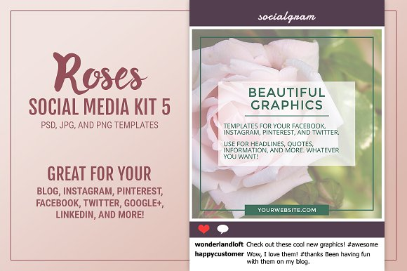 Roses Social Media Kit 5