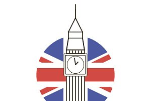 Big ben vector line icon