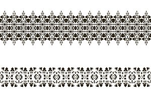 Black vector native seamless pattern