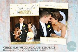 AW018 Christmas Wedding Card