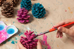 Homemade Christmas ornaments craft