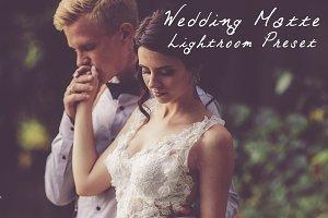Wedding Matte LR Preset