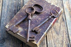 Books and key