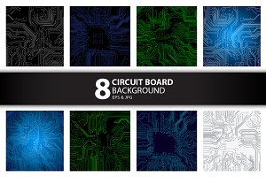 8 Circuit Board Background