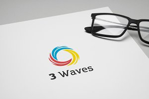 3 Waves Logo Template