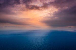 Peace sea near the sunset