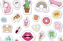 Seamless pattern fashion patch