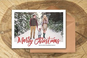 Christmas Card Template 040