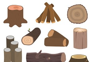 Stacked wood pine vector