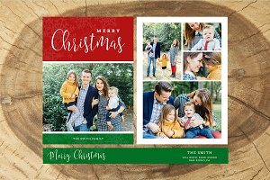 Christmas Card Template 037