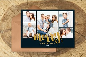 Christmas Card Template 035