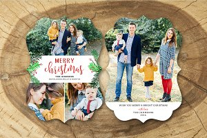 Christmas Card Template 034