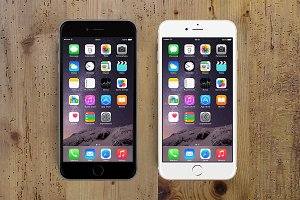 iPhone 6 Plus PSD• Mockup all-in-one