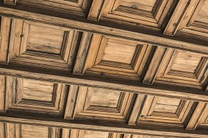 Wooden roof with ornaments