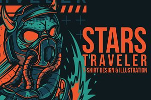 Stars Traveler Illustration