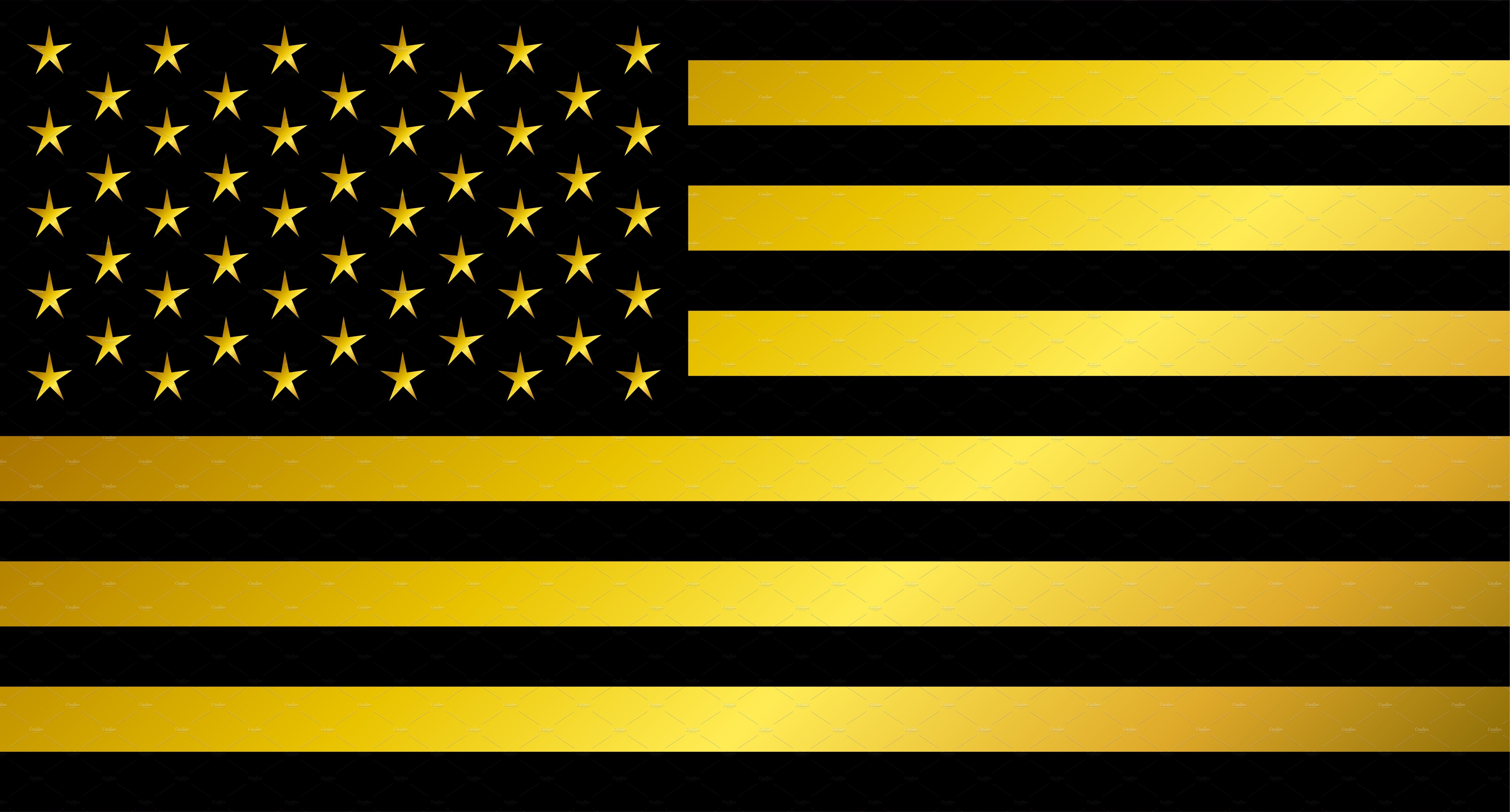 usa flag american flag gold black icons creative market