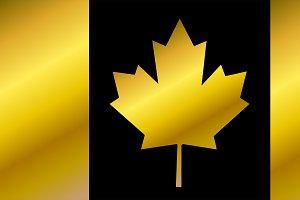 Canada Flag, Flag of Canada gold