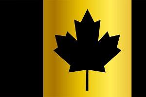 Canada flag, flag of Canada black