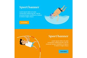 Swimming and Pole Vault Sports