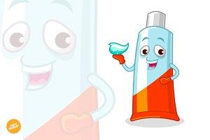 Toothpaste Mascot Vector