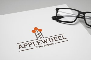 Apple Wheel Logo Template