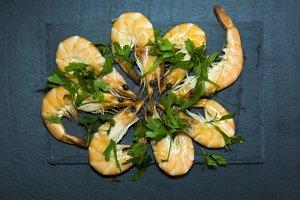 Tasty Shrimp on Stone