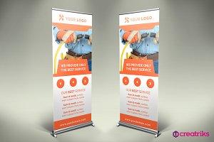 Electro Service Roll Up Banner -v032
