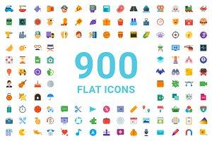 900+ Flat Icons