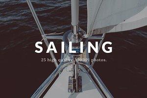 Sailing photo pack - 25 photos