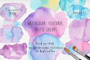 Watercolor Light Stains Textures Set