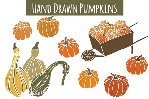 Pumpkins & Gourds Clip Art