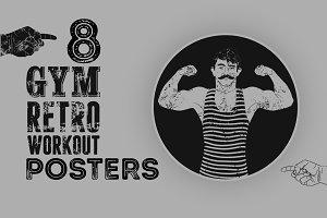 Gym vintage grunge poster design.