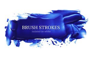 acrylic blue brush strokes