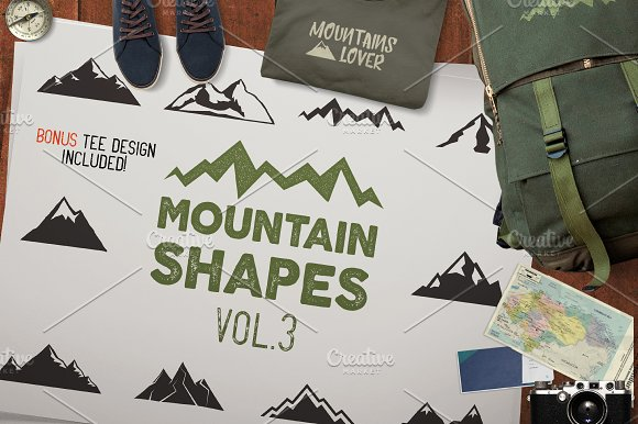 Mountain Shapes & Tee Design Vol.3 - Objects