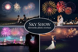 Sky Show Fireworks photo overlays