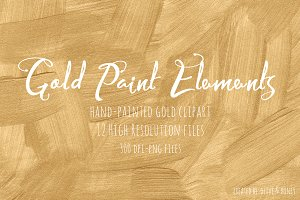 Gold Paint Elements