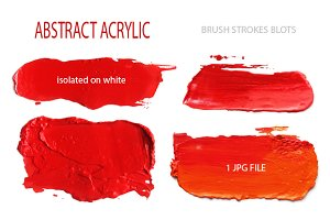 acrylic red brush strokes