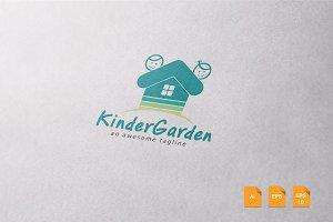 Kinder Garden Logo Template