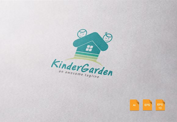 kinder garden logo template logo templates creative market