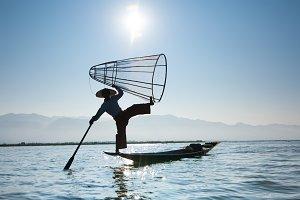 Burmese Fisherman. Myanmar